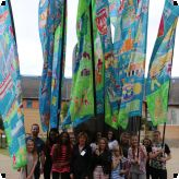Students fly the flag for Thurrock 100...