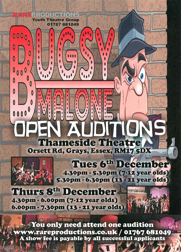 LPA Bugsy Malone Auditions 6 Dec 16