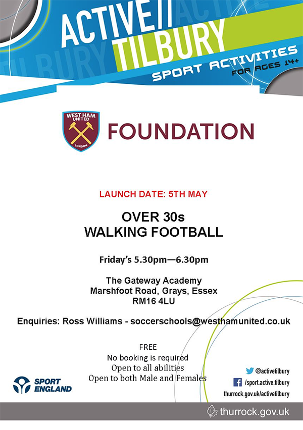 Active Tilbury Over 30s Walking Football