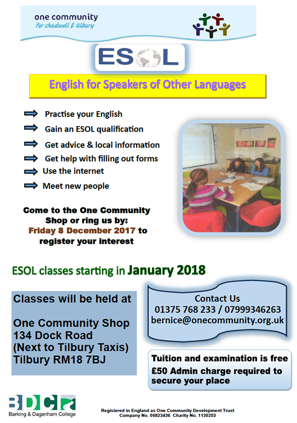 ESOL Course Jan 18