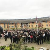 Gateway Learning Community pay respect to the fallen