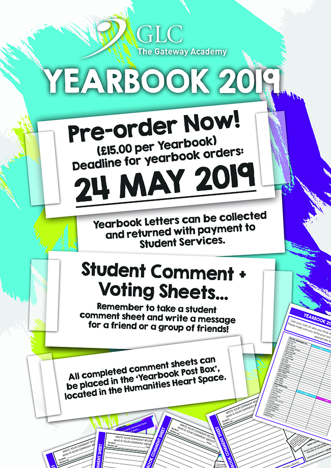 New Yearbook 'Pre-order' Poster 2019